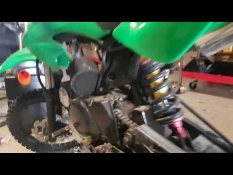 Blocked crankcase breather on pitbike