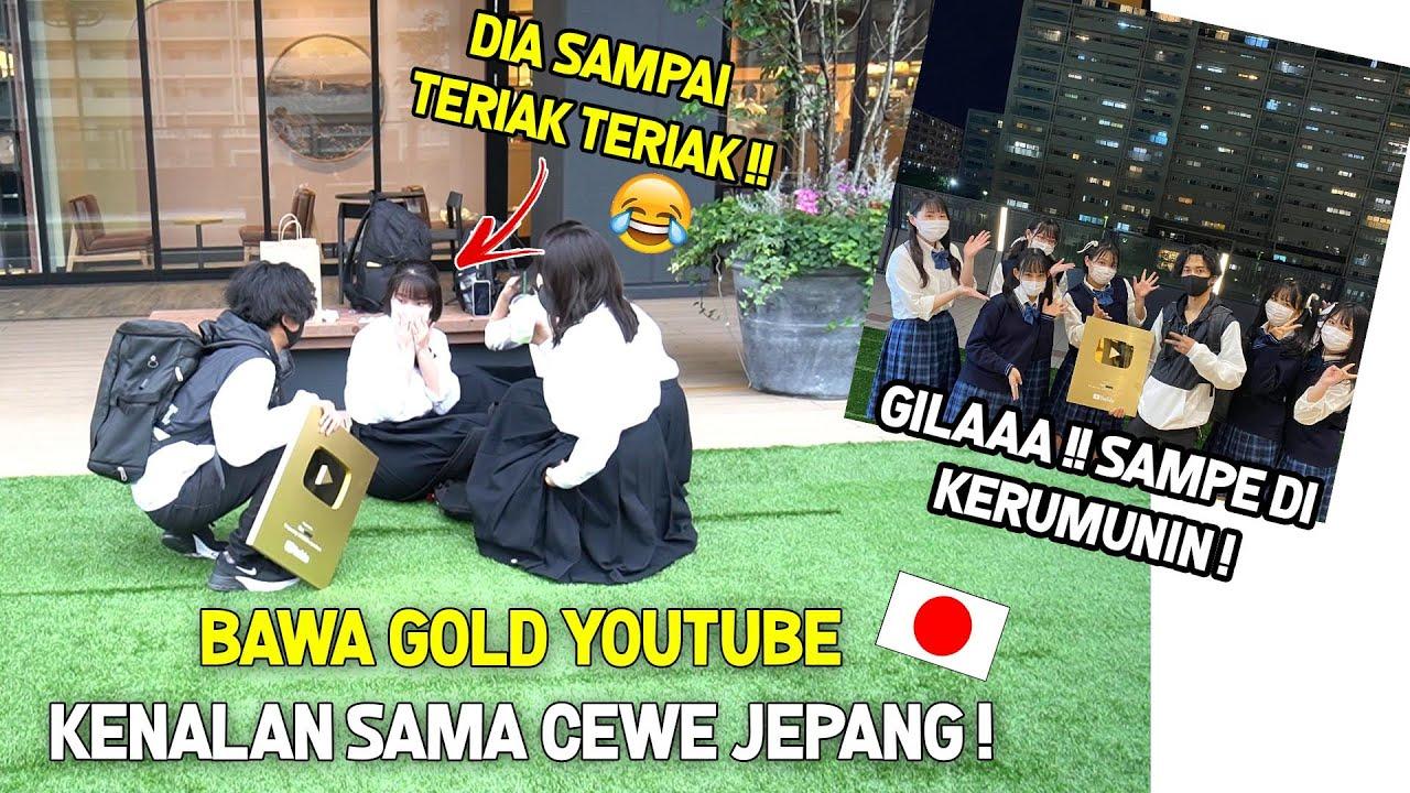 """BAWA GOLD YOUTUBE KELILING MALL di JEPANG !cewe""""  Pada Hysteeris 😱 !‼️"""