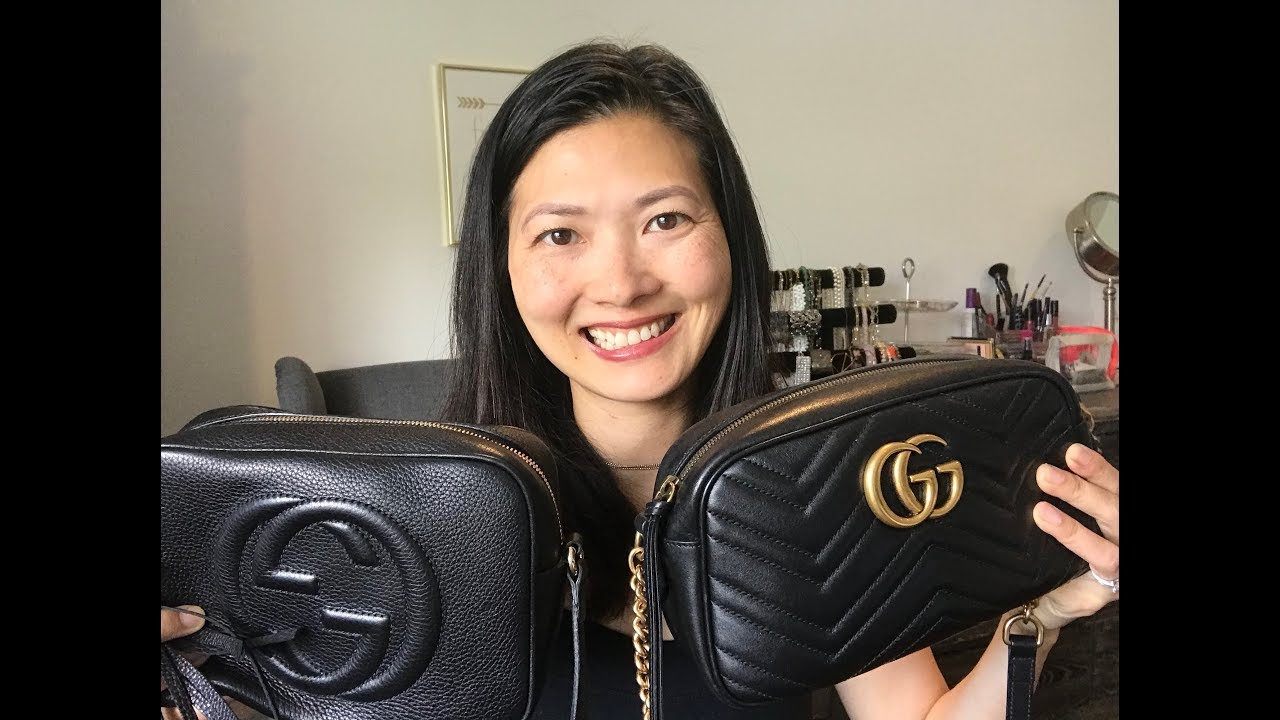 ba5cd963956c Gucci Marmont Camera Bag vs. Gucci Soho Disco Bag - YouTube