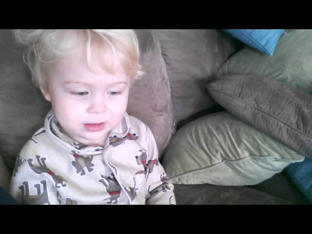 Two Year Old's Version of What Does the Fox Say? Travel Video
