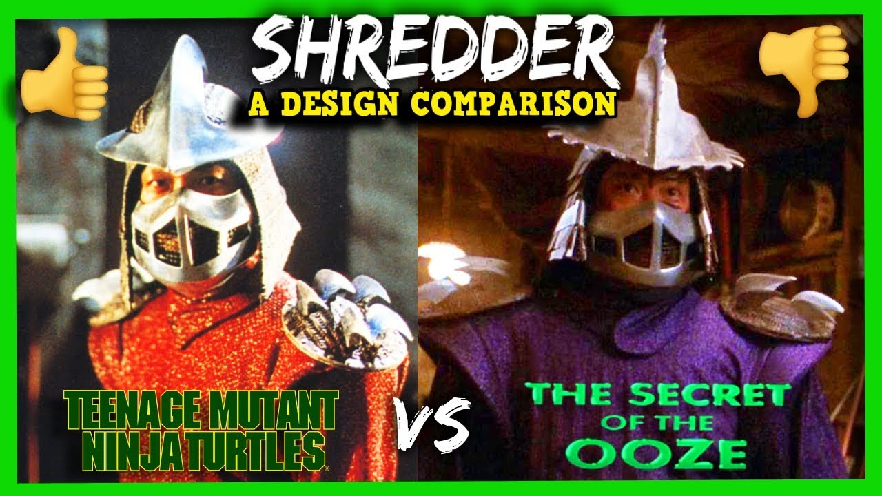 The Shredder 1990 1991 How His Look Was Changed Youtube