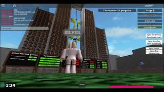 ROBLOX VERY MEAN PARSON ON ROBLOX NINJA WARRIOR
