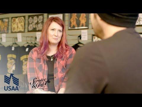 Service & Ink: David Sugihara Tattoos Julie Albrecht - Ep. 11 | USAA
