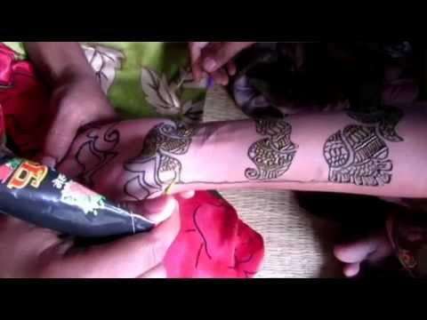 Mehndi Designs Roll : Beautiful bangle mehndi designs for hands youtube