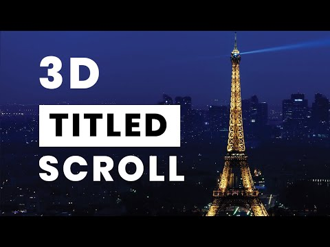 3D Tilted Scroll Effect | Jquery Plugins Tutorial
