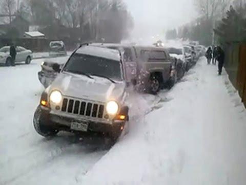 Нарезка авто на ледяных горках зима пришла неожиданно - Познавательные и прикольные видеоролики