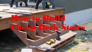 Deck Building - P2 - How To Make Steps For Deck Cheap