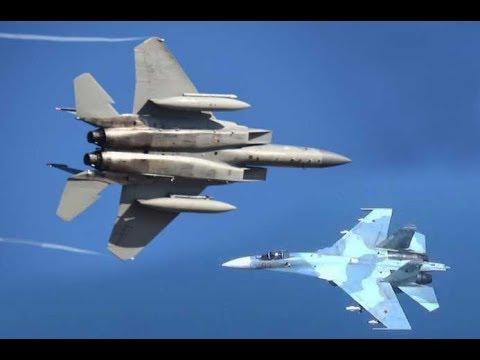 F-15's Scramble to Intercept Russian Jet Fighters