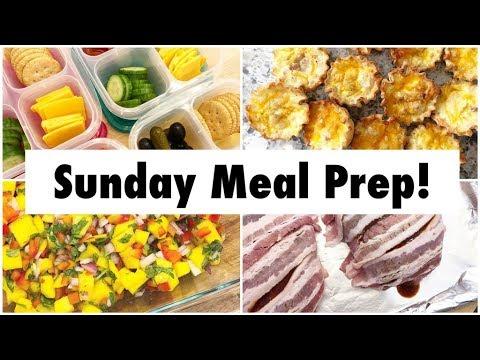 Meal Prep! Mango Salsa, Salmon, Greek Salad, Snack Boxes, & Quiche Bites