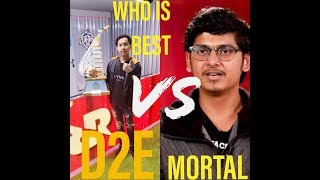 RRQ D2E ||vs||MORTAL||STATS COMPARISON||WHO is best