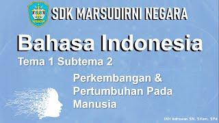 Tema 1 - Muatan Pelajaran bahasa indonesia subtema 2