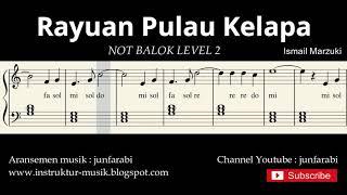 not piano rayuan pulau kelapa - notasi balok level 2 - lagu wajib nasional - do re mi / sol mi sa si