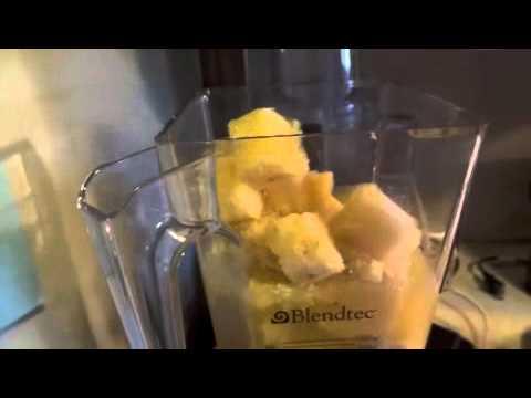 MY BREAKFAST SMOOTHIE- PINEAPPLE ORANGE BANANA COCONUT