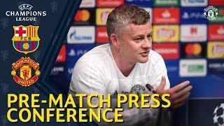 Manager's Press Conference | FC Barcelona v Manchester United | Ole Gunnar Solskjaer & Diogo Dalot