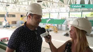 Obres de remodelació al Pavelló Joan Ortoll de Calafell