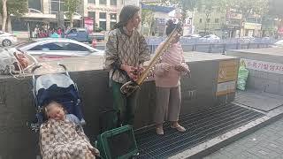 길거리 현악기 연주