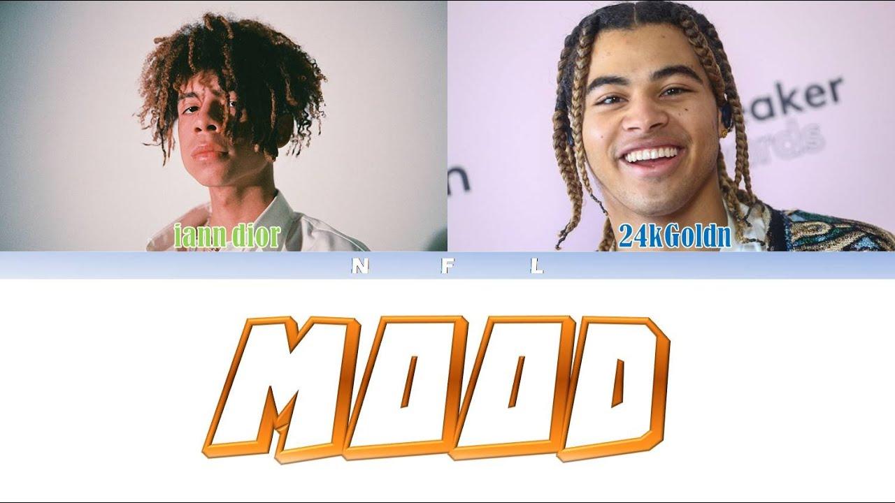 Download [E] 24kGoldn - Mood (ft. iann dior) Color Coded Lyric