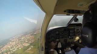 Cockpit view PA 32 Saratoga - IFR from LILN to LIMJ part1