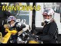 Examen carnet de moto. Clase práctica de maniobras