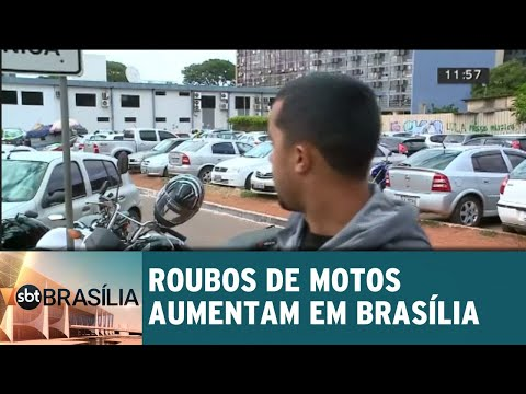 Roubos de motos aumentam em Brasília | SBT Brasília 18/07/2018