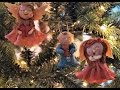 Christmas decorations - how to make an angel salt dough figurine - Sugarella Sweets Party
