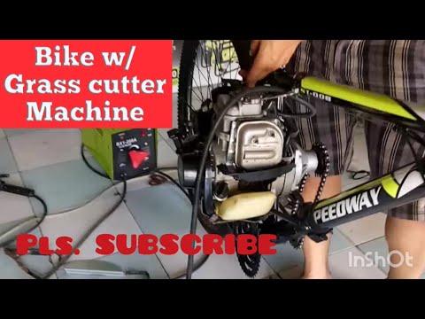 DIY Build A Motorized Bike w/ Grass cutter Machine