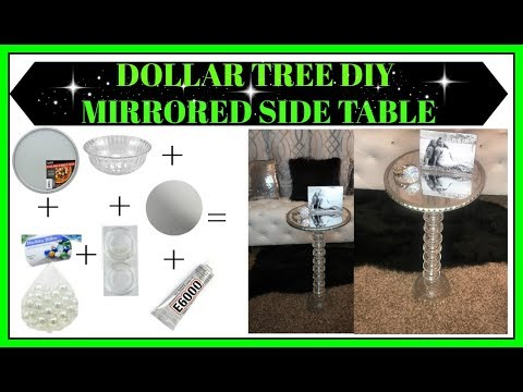 Dollar Tree DIY: Mirrored Side Table for ONLY $14!!!