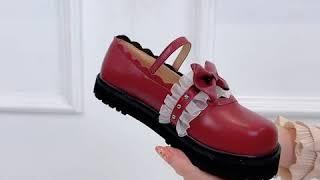 kirahosi 여자 학생 코스프레 메리제인 신발 구두…