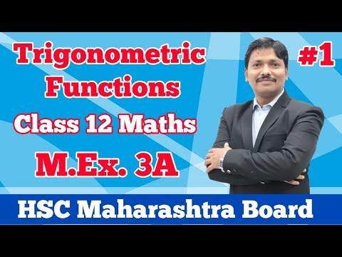 Trigonometry M.Ex. 3A Part 1 Class 12 Maths | Maharashtra Board | Dinesh Sir