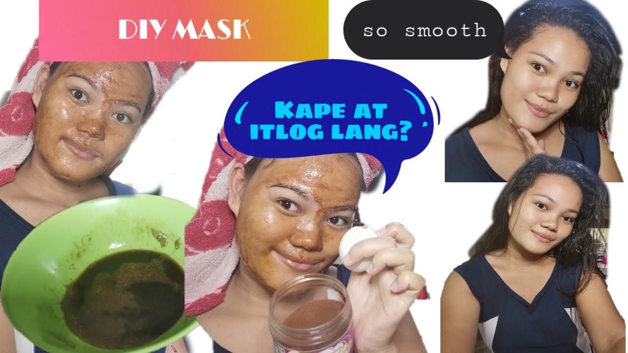 DIY FACE MASK EGG+COFFEE (GLOWY SKIN) -Oslob Tv