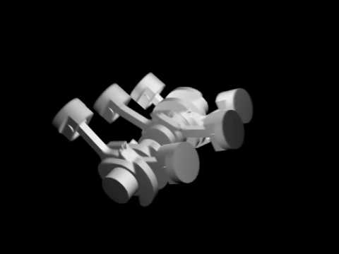 V6 engine animation