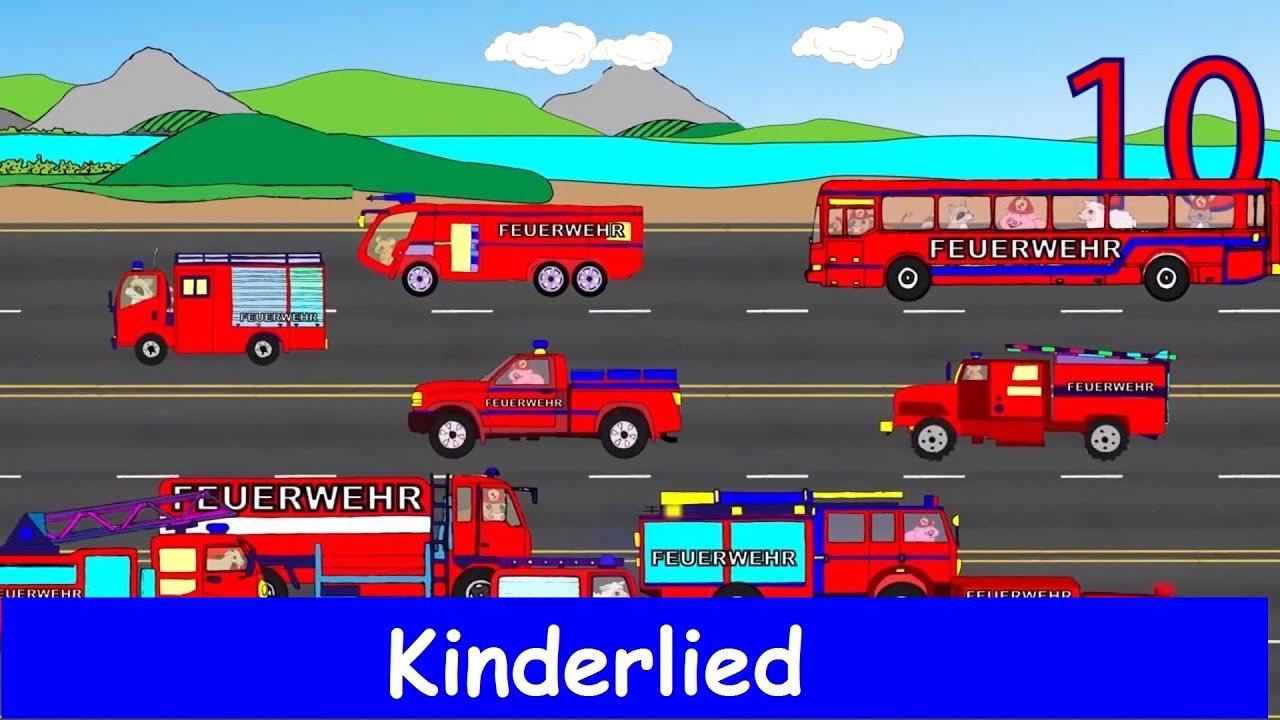10 kleine Feuerwehrautos - Kinderlernlied - Sing mit Yleekids - YouTube