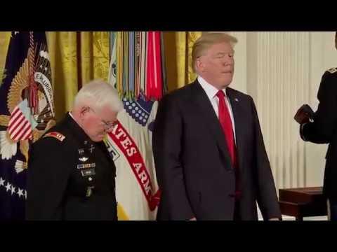 Donald Trump awards Medal of Honour to Vietnam War veteran Gary M. Rose