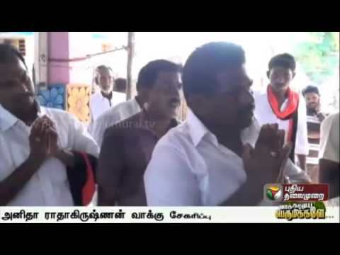 DMK-Led Alliance Candidate Anitha Radhakrishnan Seeks Votes in Thiruchendur