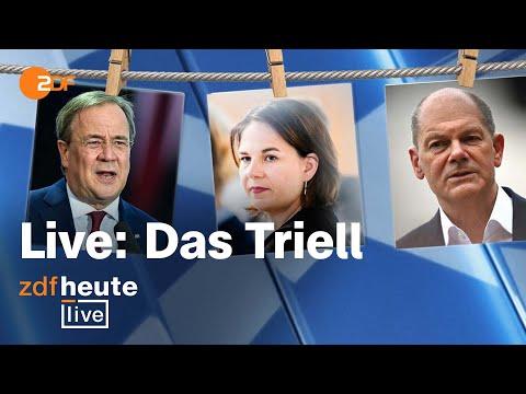 Bundestagswahl 2021: Triell ums Kanzleramt | Laschet, Scholz, Baerbock