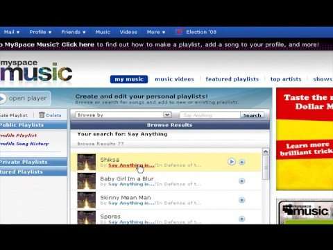 Tutorial - How to Download Music from Myspace.