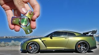 1000mph FIDGET SPINNER VS GTR!
