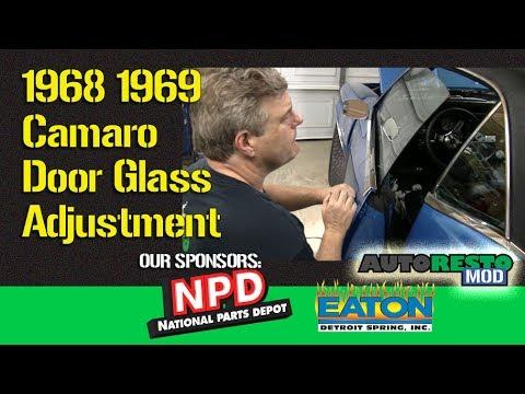 1968-1969 F-Body Interior Rear Door Panel Retainer Window Guide OER