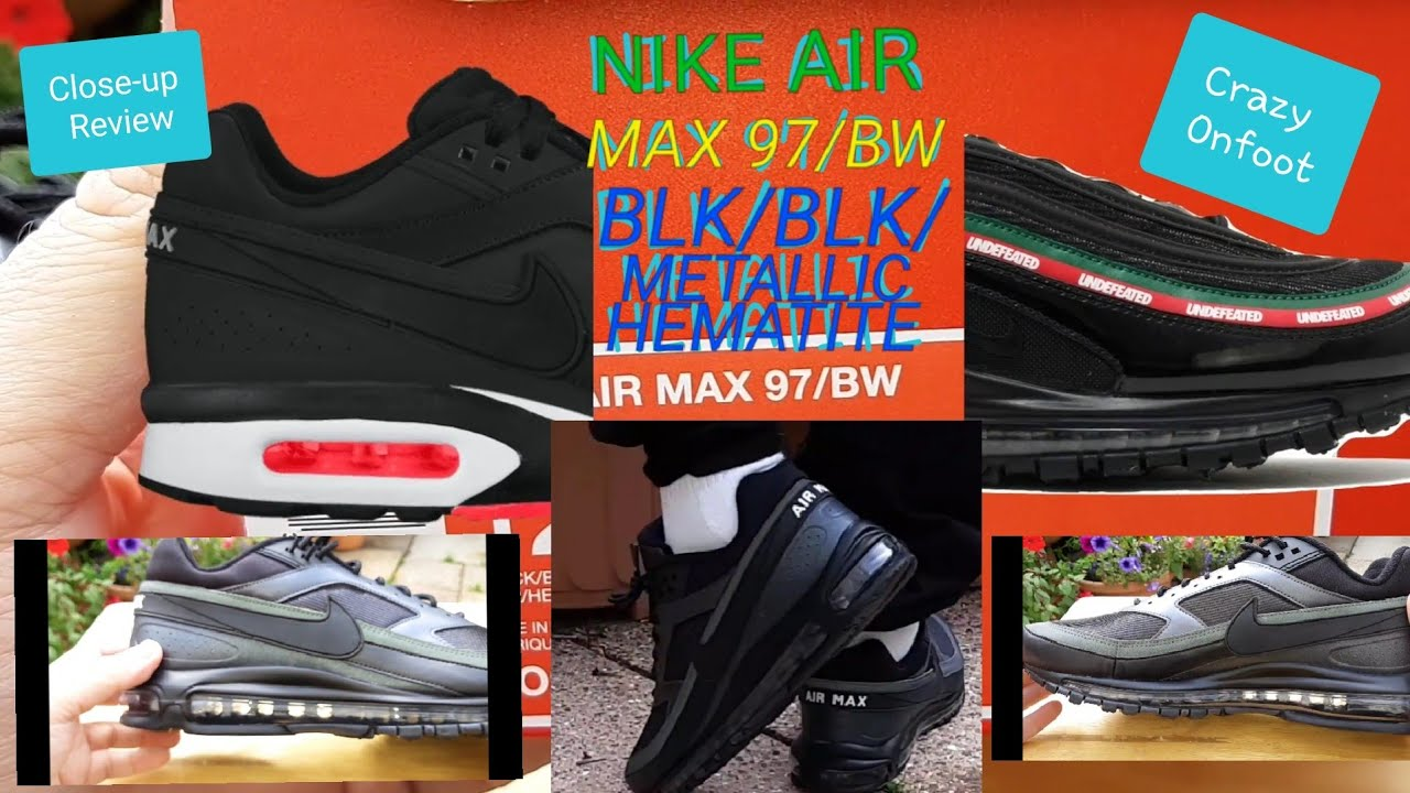 super popular e437c acce0 Crazy Nike Air Max 97 BW Black Black   Metallic Hematite Onfootage    Reviewing Pulp Fiction Parody
