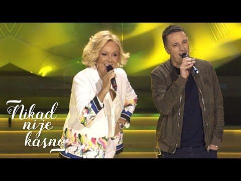 Lepa Brena i Andrija Milosevic - Kada padne prvi sneg - Nikad nije kasno - (Prva TV, 14.10.2018.)