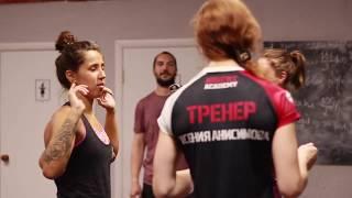 Тренировку ведет Ксения Анисимова