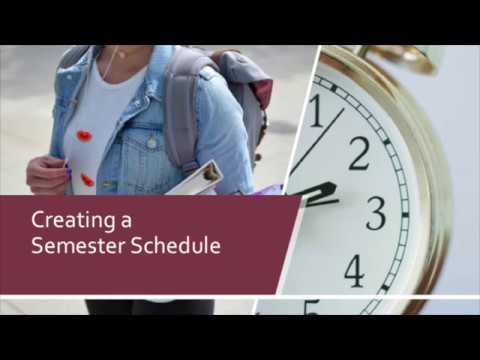 """Thumbnail for the embedded element """"Creating a Semester Schedule"""""""