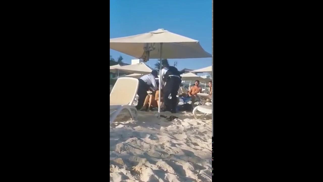 """Download Asuntos Internos intervino en el caso de prepotencia de policias contra turistas en playa """"privada"""""""