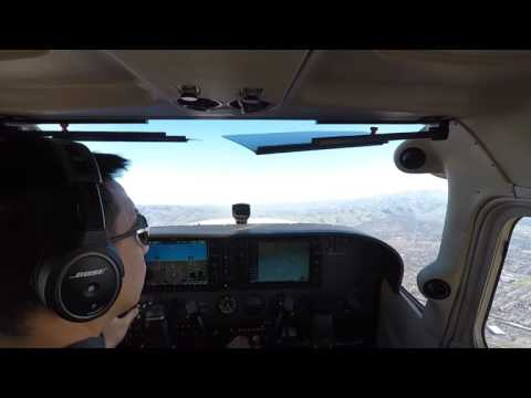 Palo Alto to Modesto Roundtrip Solo Flight on Cessna 172S G1000
