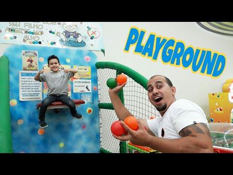 LUCAS brincando no PARQUINHO p/ Crianças -PLAYGROUND kids.