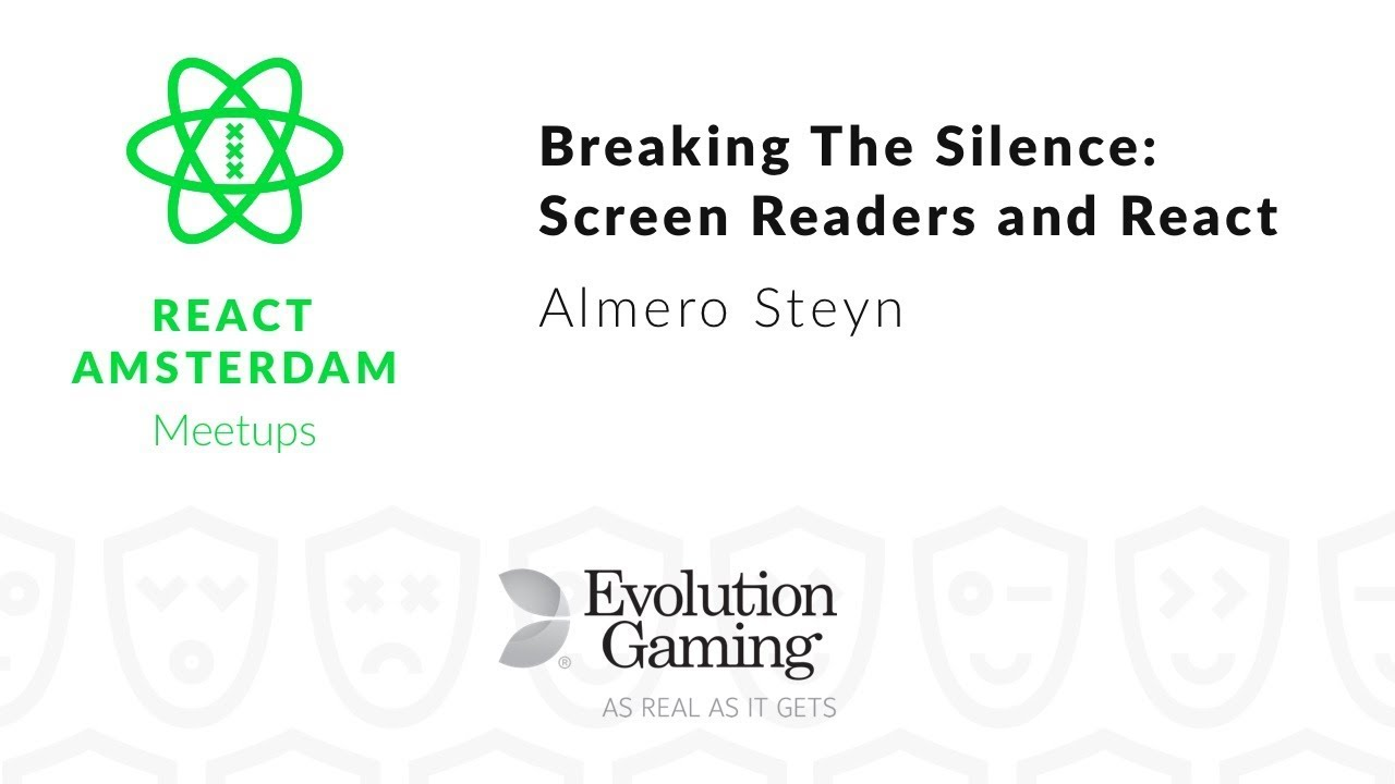 Breaking The Silence: Screen Readers and React Apps – Almero Steyn