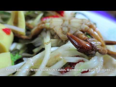 Thailand Food Video - inc. Papaya Salad with Crabs