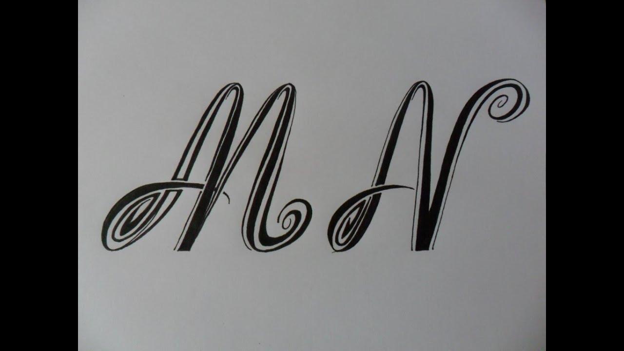 Letras tribales m y n bases elementales para dibujar - Letras para dibujar ...