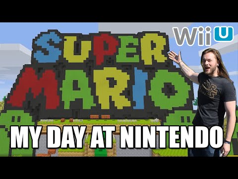 Super Mario Mash-Up Pack Wii U | Minecraft GamePlay - My Day At Nintendo HQ