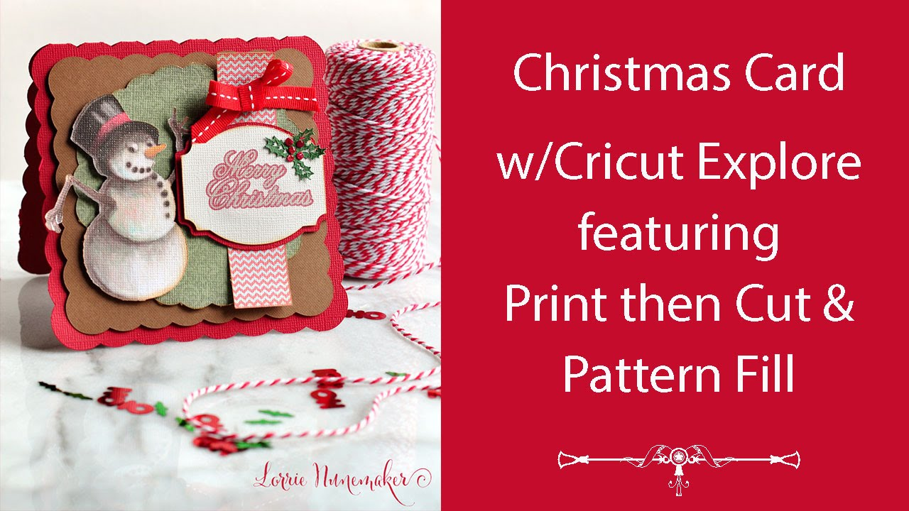 christmas card with cricut explore  youtube